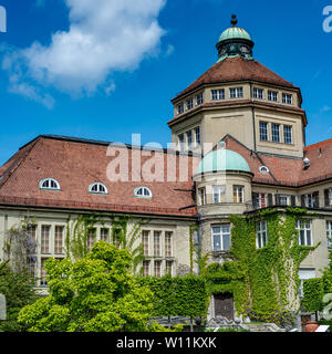 Munich, Bavaria, Germany - May 23, 2019.  München-Nymphenburg Botanical garden on a spring day featuring the main building  from close - Stock Image