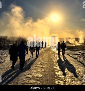 Reykjavik hot Geysir - Stock Image