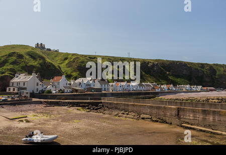 Pennan Village, Aberdeenshire, Scotland, UK. One of the locations of the film Local Hero. Located on the North East 250 travel route. - Stock Image