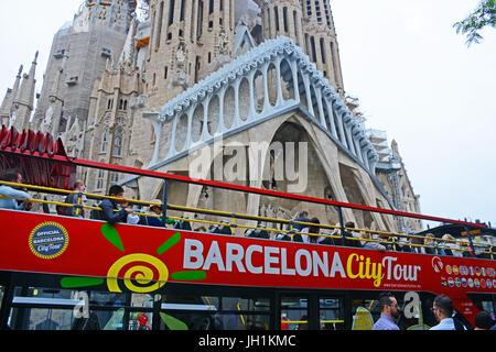 Sagrada Familia cathedral, Barcelona, Catalonia, Spain - Stock Image