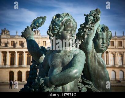 Sculpture palace de Versailles, France - Stock Image