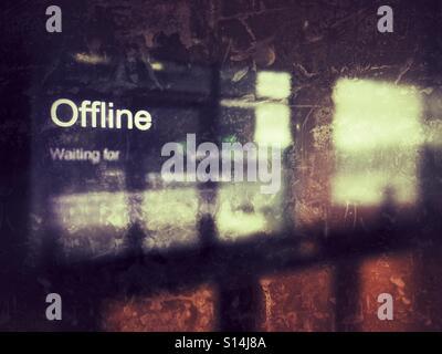 Offline - Stock Image