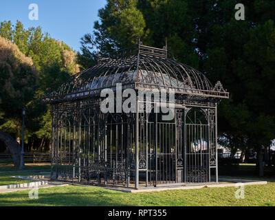 Metallic structure in La Batería Park. Torremolinos, Málaga, Spain. - Stock Image
