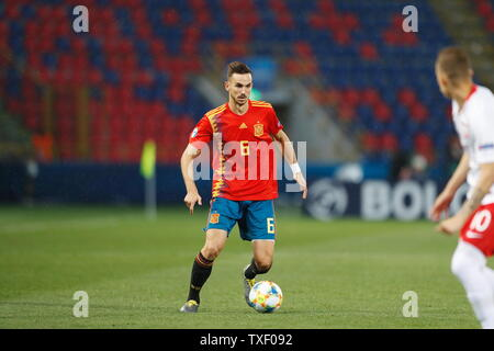 the Stadio Renato Dall'Ara, Bologna, Italy. 22nd June, 2019. Fabian Ruiz (ESP), JUNE 22, 2019 - Football/Soccer : UEFA European Under-21 Championship 2019 Group stage match between Under-21 Spain 5-0 Under-21 Poland at the Stadio Renato Dall'Ara, Bologna, Italy. Credit: Mutsu Kawamori/AFLO/Alamy Live News - Stock Image