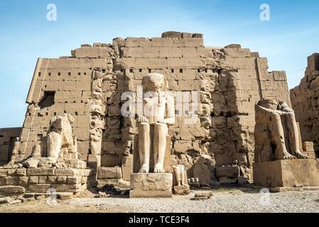 Precinct of Mut, Temples of Karnak, Karnak, Luxor, Egypt - Stock Image