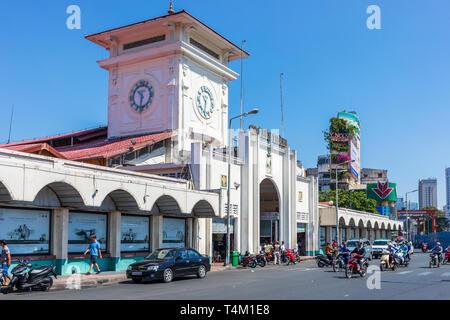 Ben Thanh local market, Ho Chi Minh city centre, Saigon, Vietnam, Asia - Stock Image