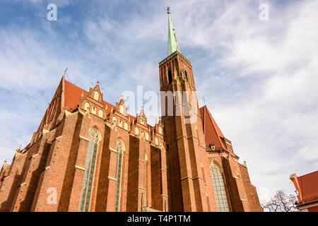 Kościół Rzymskokatolicki pw Świętego Krzyża, catholic church, Wrocław, Wroclaw, Wroklaw, Poland - Stock Image