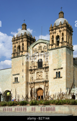 Santo Domingo de Guzman Church, Oaxaca City, Oaxaca State, Mexico - Stock Image