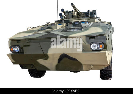 Ukrainian armored personnel carrier 4mb1 on a white background Ukraine, Kiev 11.10.2018 - Stock Image