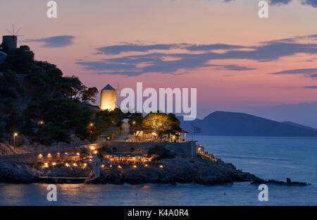 Sunset at Hydra island - Stock Image