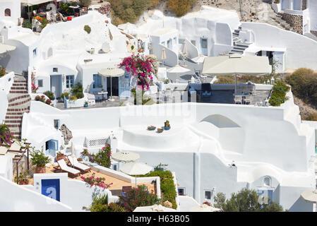 Oia village , Santorini - Stock Image