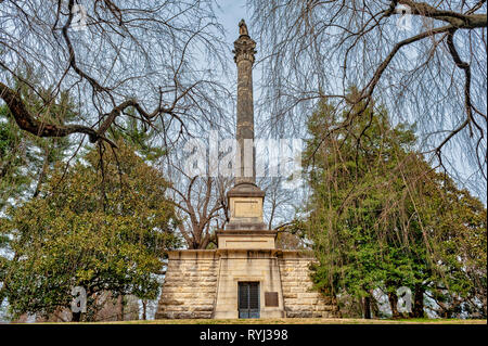 Henry Clay Monument at Lexington National Cemetery in Lexington Kentucky - Stock Image