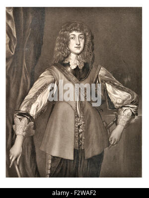Prince Rupert of the Rhine,  1619 –1682), noted German soldier, admiral, scientist, sportsman, colonial governor - Stock Image