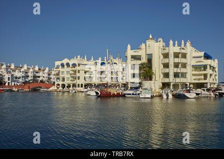 Puerto Marina yacht harbour. Benalmádena, Málaga province, Andalusia, Spain. - Stock Image