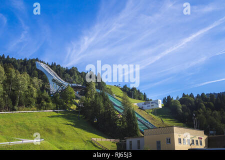 Garmisch-Partenkirchen, Skisprungschanze im Sommer, - Stock Image