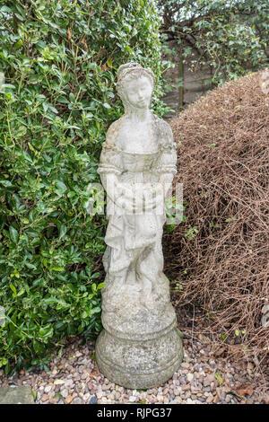 Reconstituted stone statue Gwendoline - Stock Image