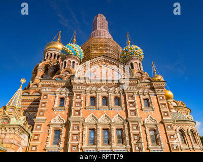18 September 2018: St Petersburg, Russia - Church of the Saviour on Spilled Blood, so called because it was erected on the spot where Tsar Alexander I - Stock Image