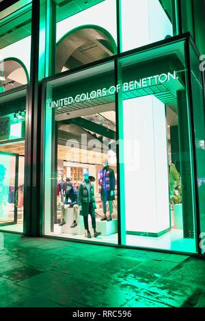 Benetton Store on Oxford Street, London, England, UK - Stock Image