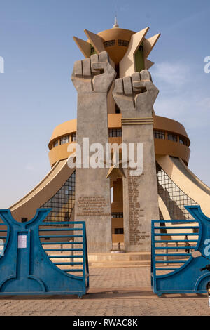 A view of the monument of National Heroes in Ouagadougou, the capital of Burkina Faso. - Stock Image