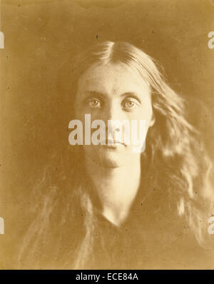 Julia Jackson; Julia Margaret Cameron, British, born India, 1815 - 1879; Freshwater, England, Europe; 1867; Albumen - Stock Image