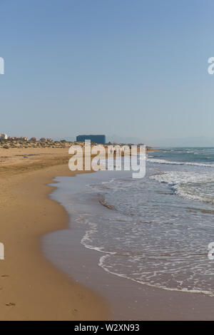 Beautiful natural beach Costa Blanca between Torre la Mata and Guardamar del Segura Spain - Stock Image