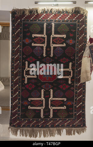 Azerbaijan, Baku, Old City (Icari Seher),  Palace of the Shirvanshahs, 15th c, prayer rug - Stock Image
