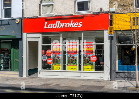 A branch of Ladbroke's in Bromley, South London. - Stock Image