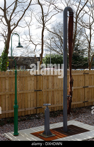 Water crane at East Grinstead station, Bluebell Railway - Stock Image