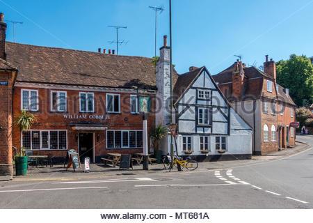 The William Cobbett public house in Farnham, Surrey, UK - Stock Image