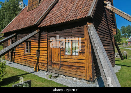 Rodven stave church, Norway. - Stock Image
