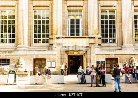 The British Museum, The British Museum London, The British Museum building, The British Museum entrance, The British Museum front, The British Museum - Stock Image