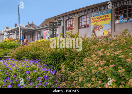 Canning Museum Outside, Old Town Stavanger, Norway - Stock Image
