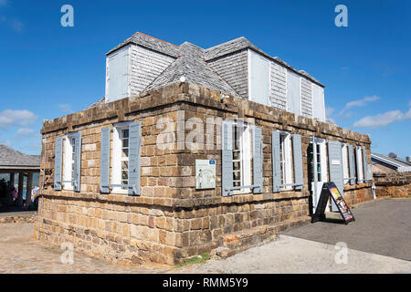 The Royal Artillery Guard House, The Lookout, Shirley Heights, Saint Paul Parish, Antigua, Antigua and Barbuda, Lesser Antilles, Caribbean - Stock Image