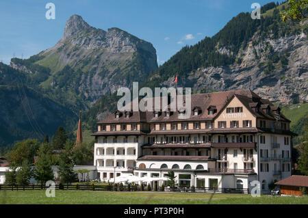 Victoria Hotel, Kandersteg, Switzerland - Stock Image