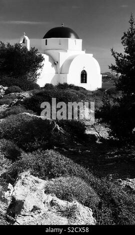 Small Greek church, Anti Paros - Stock Image