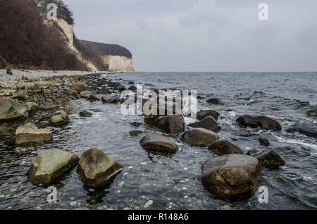 Rügen is an island just off the Pomeranian coast of the Baltic Sea, and is the largest island in Germany covering over 900 square km. - Stock Image