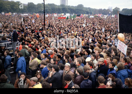 Anti-nuclear Demonstration in Hyde Park London in the 1980's - Stock Image