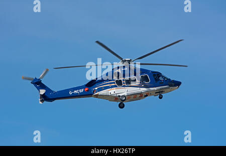 Airbus H175 helicopter on trials at Inverness Dalcross Airport before its full time North Sea Oil Industry operations. - Stock Image