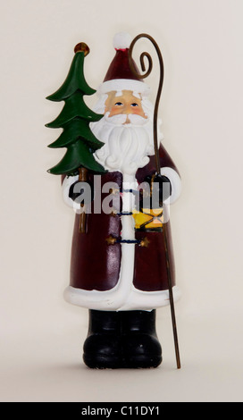 father,Christmas,santa,claus,st,nicholas,seasonal,decoration - Stock Image