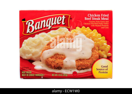 Banquet Chicken Fried Beef Steak Ready Meal - Stock Image