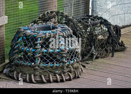 Lobster Pots, UK - Stock Image