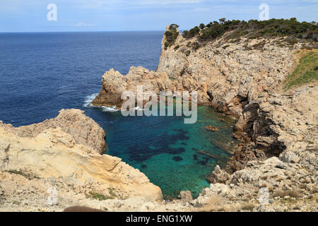 Bay L´Olla at Cala Rajada, Mallorca - Stock Image