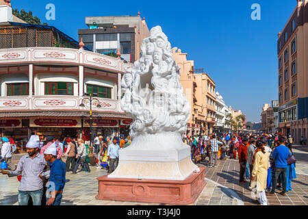 Sculpture outside the Jallianwala Bagh, a public garden in Amritsar, Punjab state, India, commemorating martyrs of the 1919 Jallianwala Bagh Massacre - Stock Image