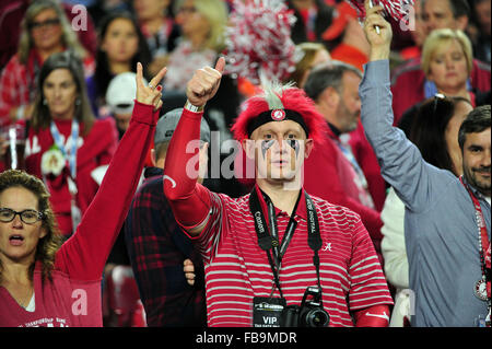 Glendale, AZ, USA. 11th Jan, 2016. Fans of Alabama during the 2016 College Football Playoff National Championship - Stock Image