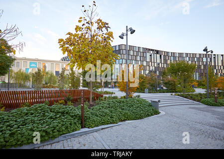 TURIN, ITALY - NOVEMBER 2, 2018: Nuvola Lavazza building contemporary architecture by Cino Zucchi and garden in Turin, Italy. - Stock Image