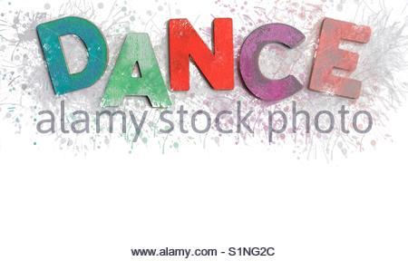 dance (word) - Stock Image