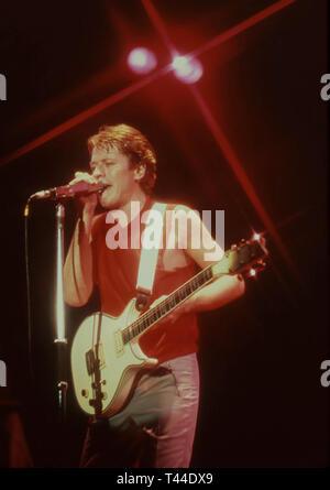 ROBERT PALMER (1949-2003) English singer-songwriter about 1984 - Stock Image