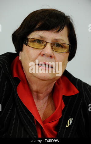 Brno, Czech Republic. 01st Aug, 2013. ***FILE PHOTO*** Czech PM Babis will nominate Marie Benesova for justice minister to replace Knezinek, he told Czech Television. on April 18, 2019. Benesova held the post before and was supreme prosecutor. *** Marie Benesova, Czech Justice Minister, attends a press conference, on August 1, 2013, in Brno, Czech Republic. Credit: Vaclav Salek/CTK Photo/Alamy Live News - Stock Image