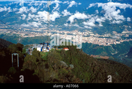 Merida Cable Car Venezuela The Longest Cable Car in the World with Five Stages to the Top of the Andes - Stock Image