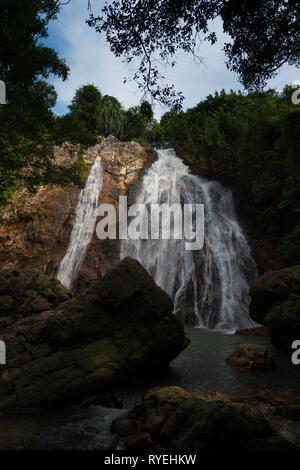 Namuang waterfall in Koh Samui island, Thailand - Stock Image